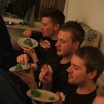 Rasmus Lund served home baked Kaj Cakes!