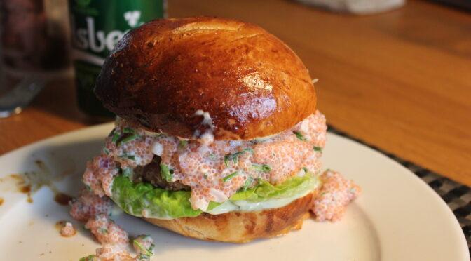 Delikatesse burger – #2 Lumpfish roe